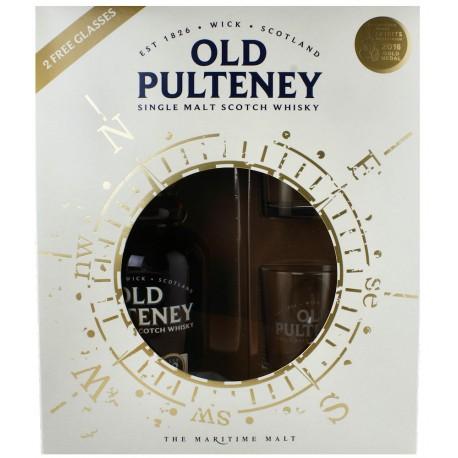 Old Pulteney 12 Jahre, 0,75 l, Geschenkbox mit 2 Gläsern