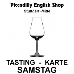 Tasting-Karte Freitag 99.99.2099 Piccadilly English Shop