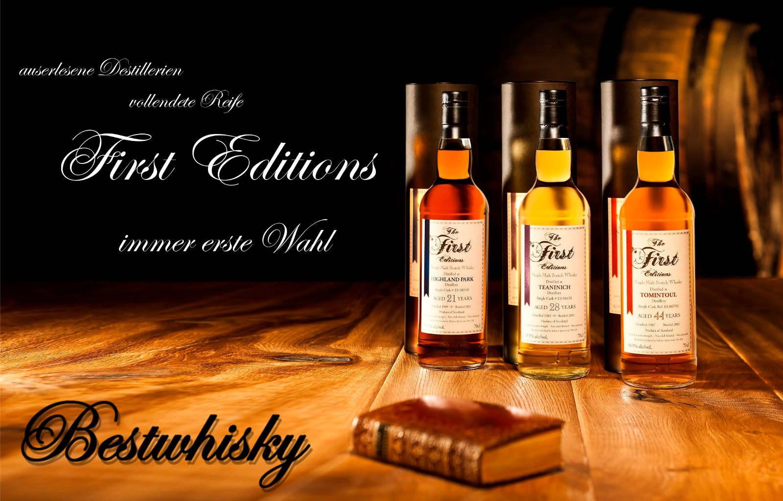 Die besten Destillerien, die besten Jahrgänge -- First Editions -- erste Wahl